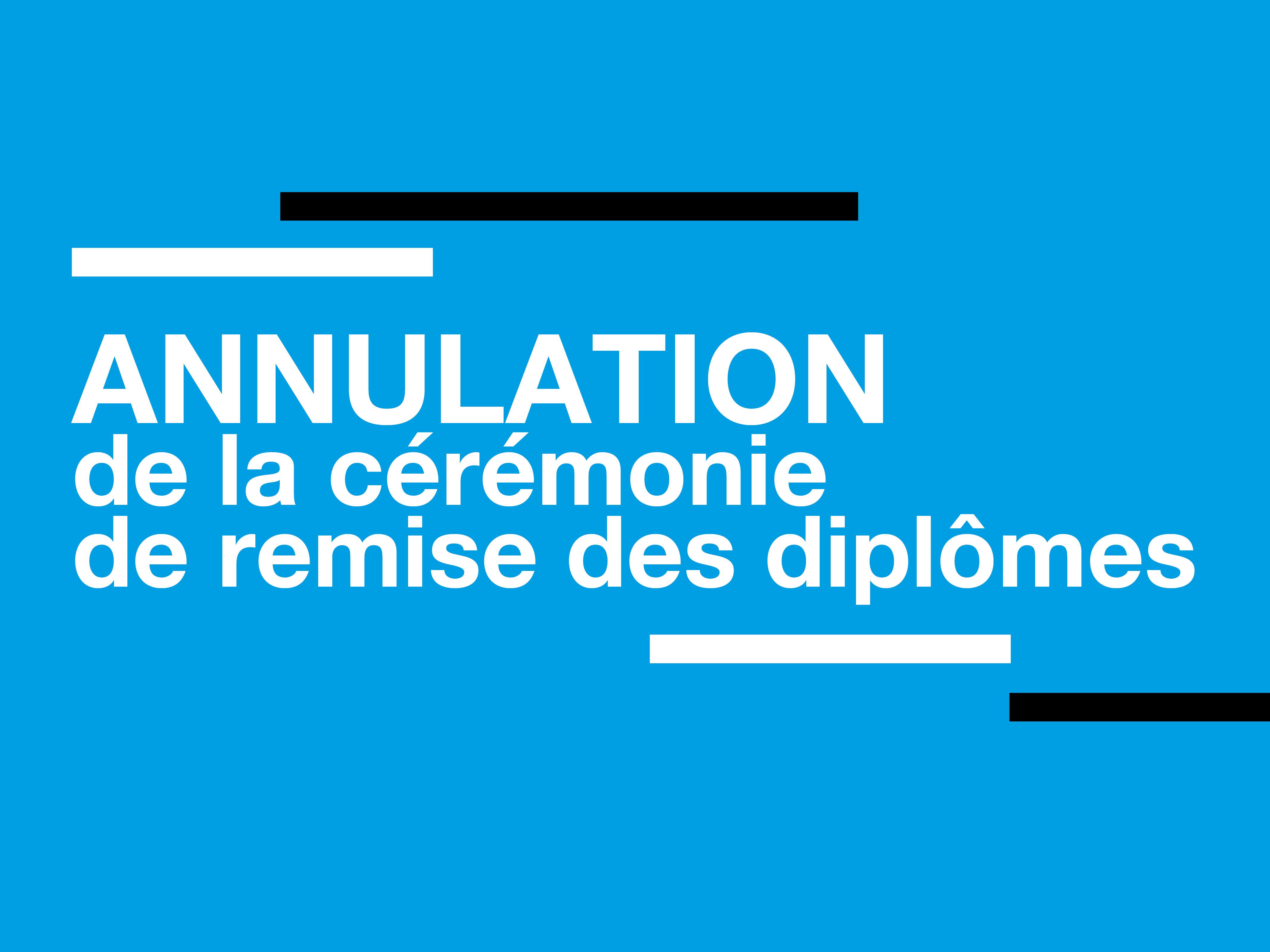 ANNULATION   Cérémonie de remise des diplômes   Sciences Po Lyon - IEP Lyon